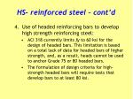 hs reinforced steel cont d2