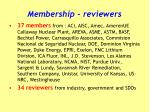 membership reviewers
