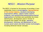 nescc mission purpose