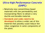 ultra high performance concrete uhpc