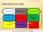 cdm projects types