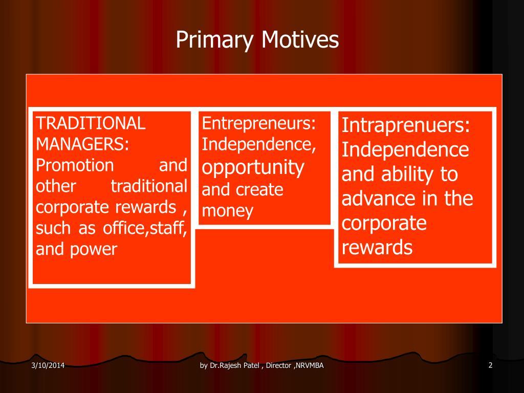 Primary Motives