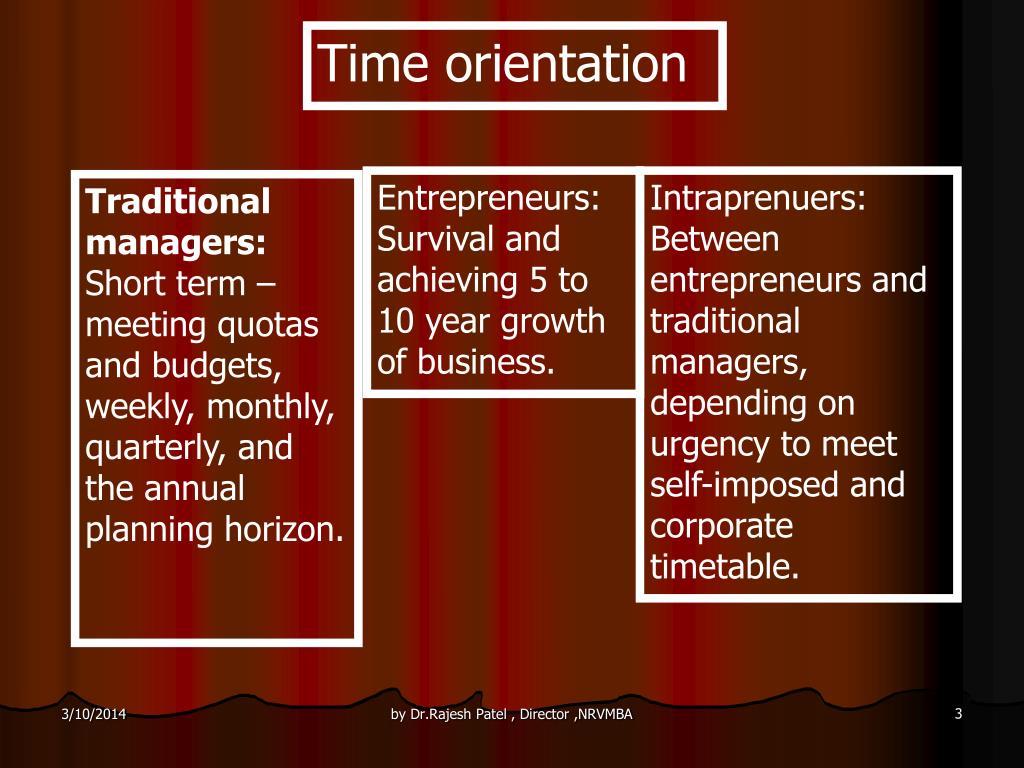 Time orientation