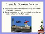 example boolean function