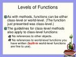 levels of functions