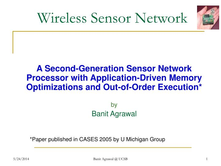 wireless sensor network n.