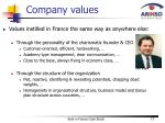 company values1