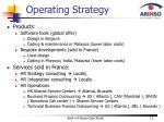 operating strategy