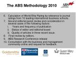 the abs methodology 20101