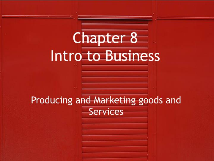 chapter 8 intro to business n.
