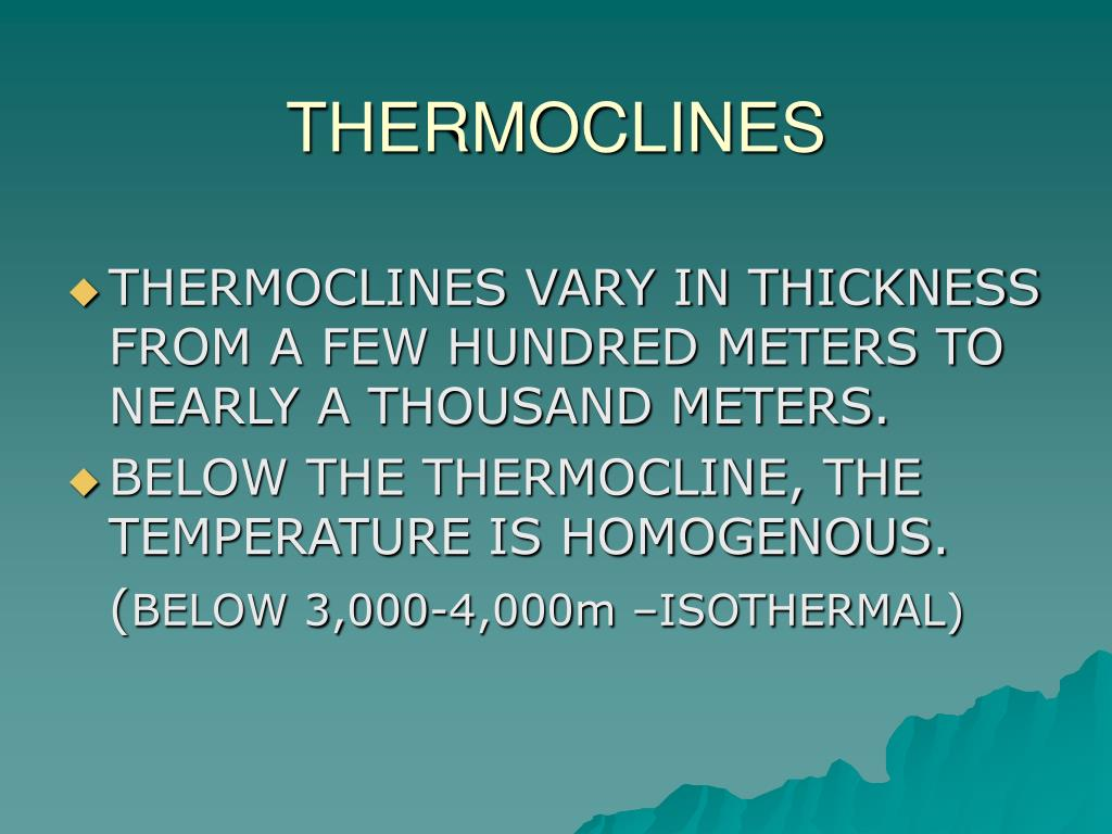 THERMOCLINES