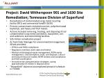 project david witherspoon 901 and 1630 site remediation tennessee division of superfund