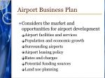 airport business plan