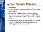 airport sponsor checklist1