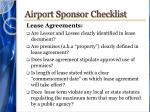 airport sponsor checklist5