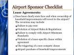 airport sponsor checklist7