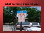 what do these signs tell you1