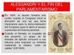alessandri y el fin del parlamentarismo