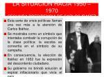 la situaci n hacia 1950 1970 segunda presidencia de carlos iba ez