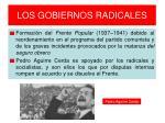 los gobiernos radicales