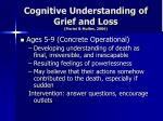 cognitive understanding of grief and loss fiorini mullen 20062