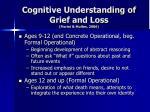 cognitive understanding of grief and loss fiorini mullen 20063