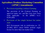 agriculture produce marketing committee apmc amendments