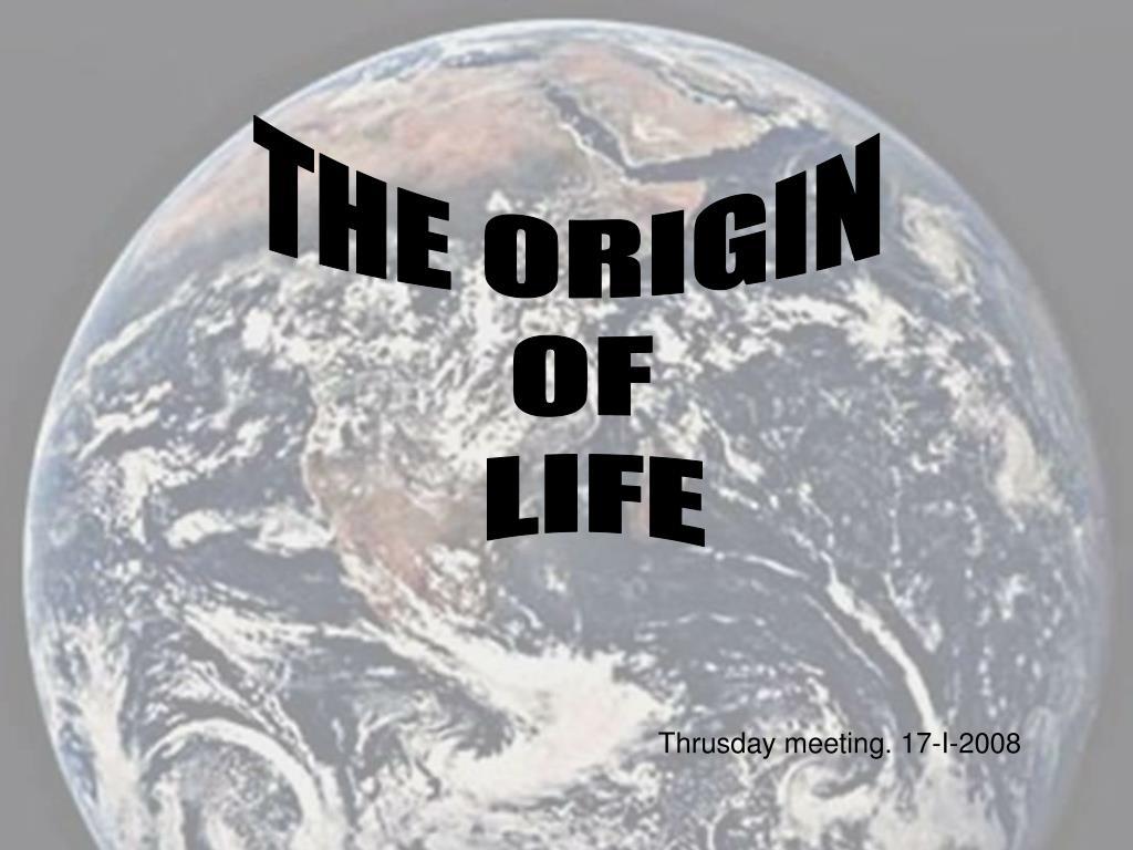 THE ORIGIN