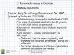2 renewable energy in estonian strategy documents