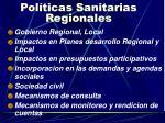 pol ticas sanitarias regionales