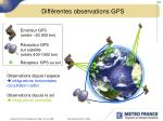 diff rentes observations gps