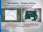 startability engine rating