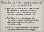 gest o da informa o pessoal com a web 2 01