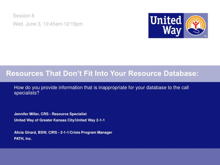 resources that don t fit into your resource database n.
