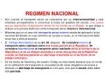 regimen nacional