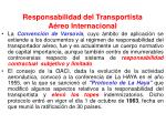 responsabilidad del transportista a reo internacional