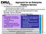 approach for an enterprise platform service