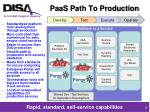 paas path to production