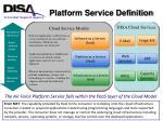 platform service definition