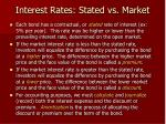 interest rates stated vs market
