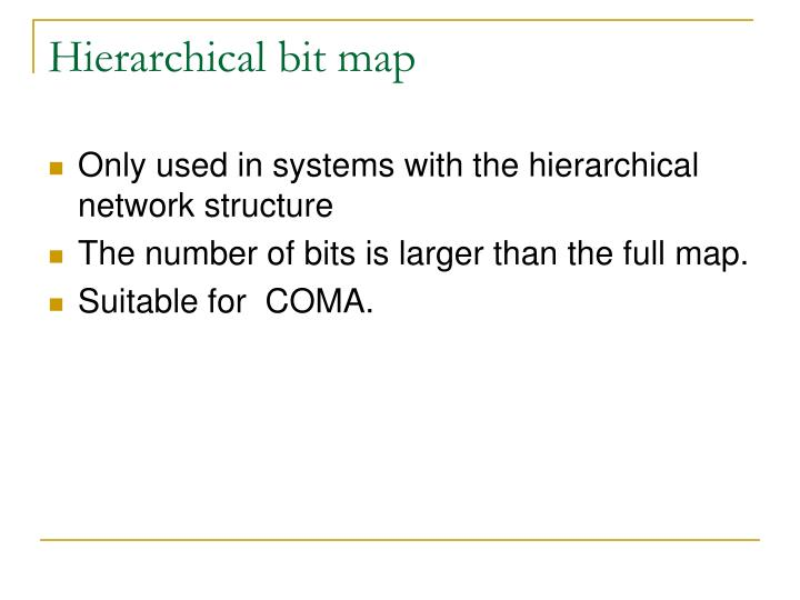 Hierarchical bit map