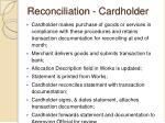 reconciliation cardholder