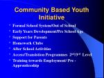 community based youth initiative