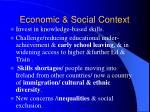 economic social context3