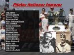 pilotos italianos famosos