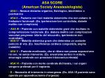 asa score american society anestesiologists