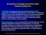 screening e strategie preventive delle infezioni batteriche2