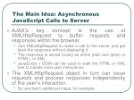 the main idea asynchronous javascript calls to server