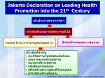 jakarta declaration on leading health promotion into the 21 st century