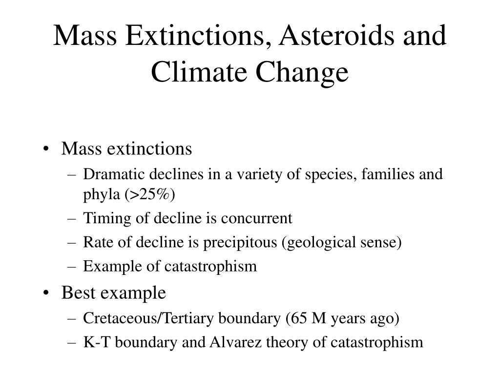 Mass Extinctions, Asteroids and Climate Change